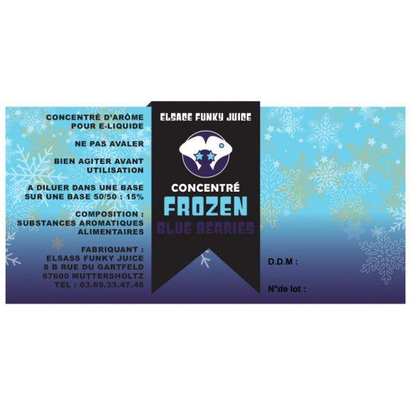 Concentré Frozen Blue Berries 30 ml - Elsass Funky Juice