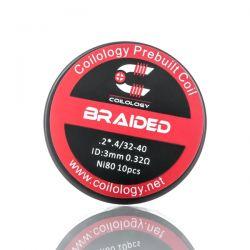 Boîte de 10 coils Performance Coil Braided de Coilology Ga : Ni80  2-4/32-40